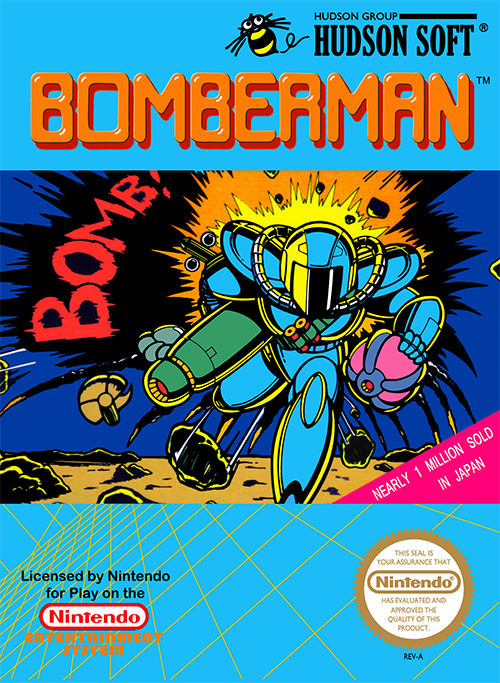 Bomberman - Nintendo Entertainment System/Famicom - Puzzle - 1 Jogador - Hudson Soft 1985